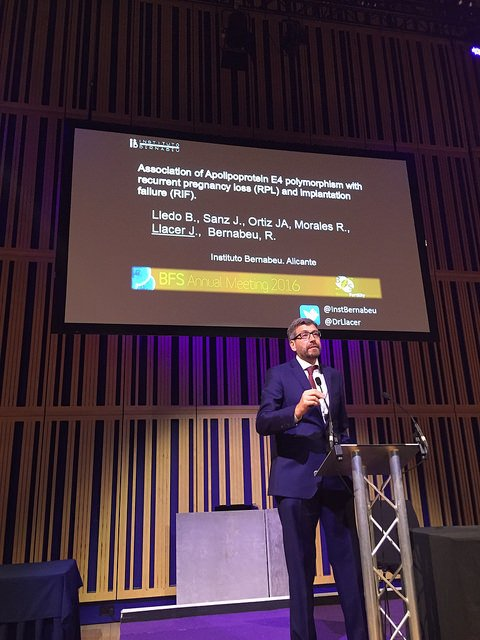 Dr. Joaquín Llácer at British Fertility Society Anual Meeting 2016