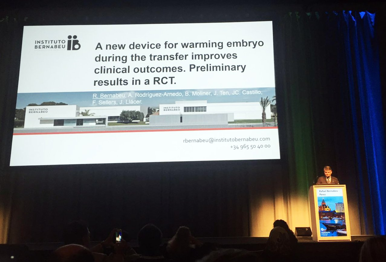 Creation of a device that maintains embryo temperature for transfer. Scientific progress for ESHRE 2016