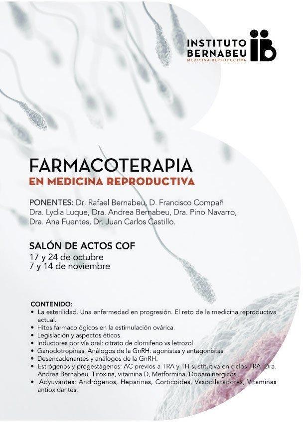 """El Instituto Bernabeu organiza junto al Colegio de Farmacéuticos de Albacete el curso """"Farmacoterapia en medicina reproductiva"""""""