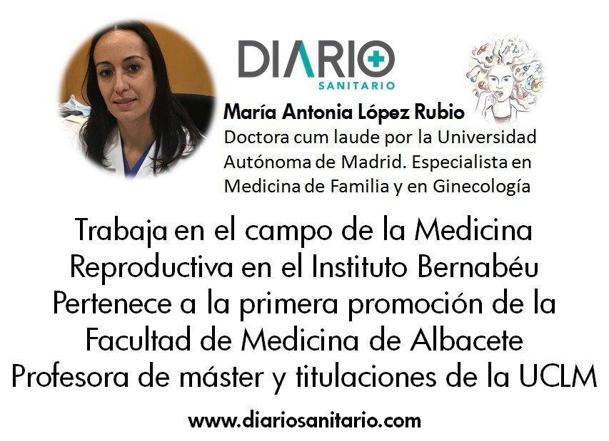 La ginecóloga Antonia López Rubio, de IB Albacete, ejemplo de mujer investigadora en Castilla La Mancha para la revista Diario Sanitario
