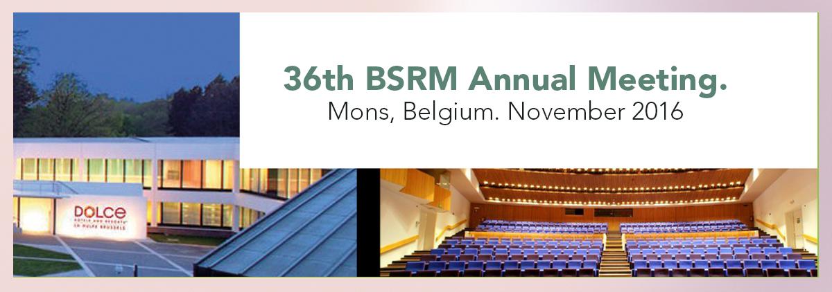BSRM Annual Meeting. Mons, Belgium. November 2016