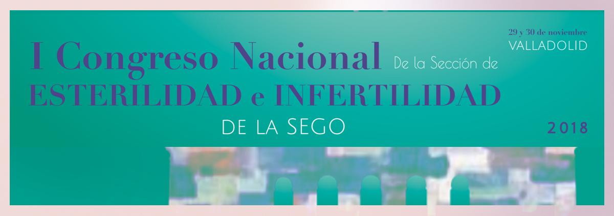 I Congreso Nacional de la Sección de Esterilidad e Infertilidad de la SEGO. Valladolid. Noviembre 2018