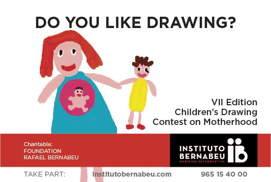 The Rafael Bernabeu Foundation launches the VII edition of the children's maternity-related art competition