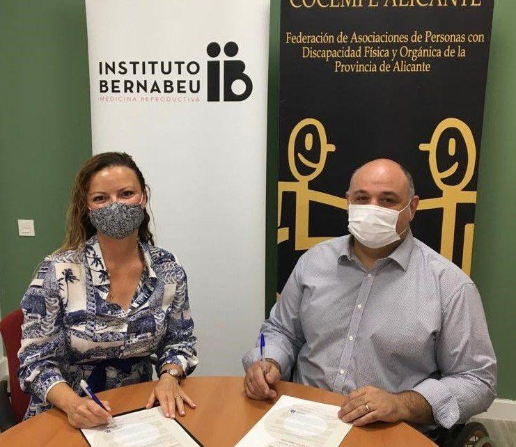 Instituto Bernabeu, la Fundación Rafael Bernabeu y COCEMFE renuevan su convenio para hacer más accesible el diagnóstico temprano y la prevención de enfermedades genéticas