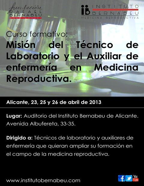 Misión del técnico de laboratorio y el auxiliar de enfermería en Medicina Reproductiva.