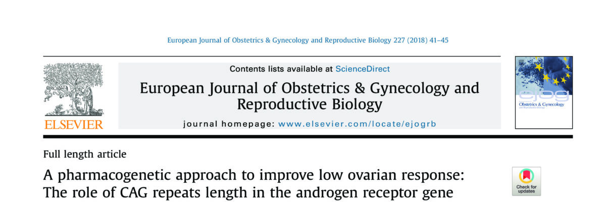 A pharmacogenetic approach to improve low ovarian response: The role of CAG repeats length in the androgen receptor gene