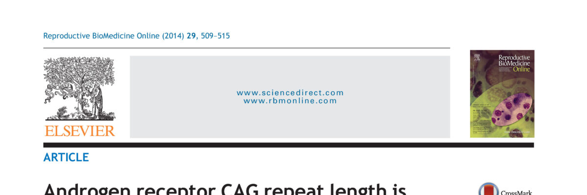 Androgen receptor CAG repeat length is associated with ovarian reserve but not with ovarian response.