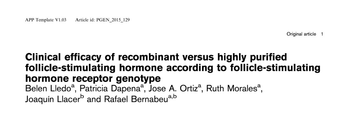 Clinical efficacy of recombinant versus highly purified follicle-stimulating hormone according to follicle-stimulating hormone receptor genotype