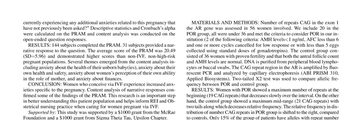 Androgen receptor Polymorphisms are associated with poor ovarian response
