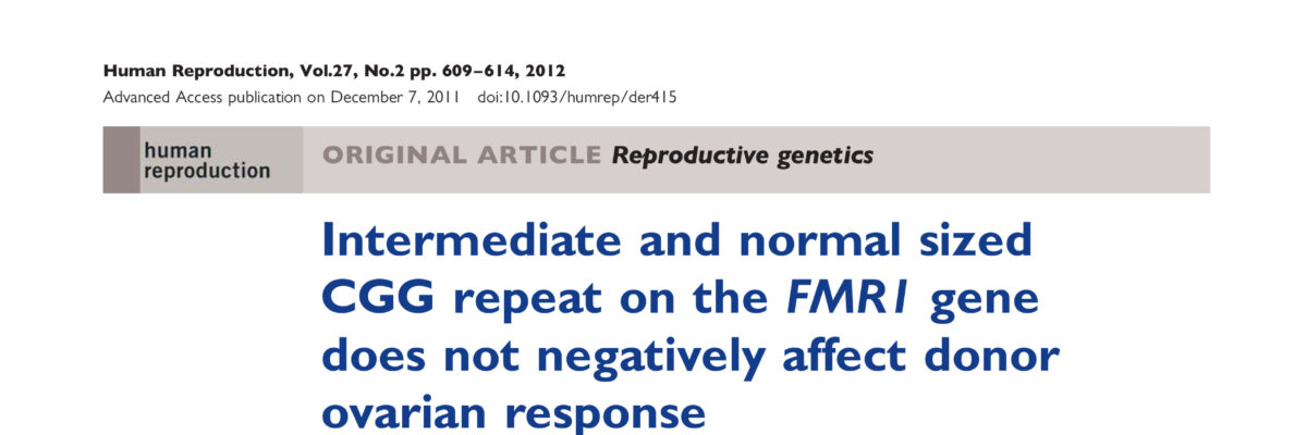 Intermediate and normal sized CGG repeat on the FMR1 gene does not negatively affect donor ovarian response