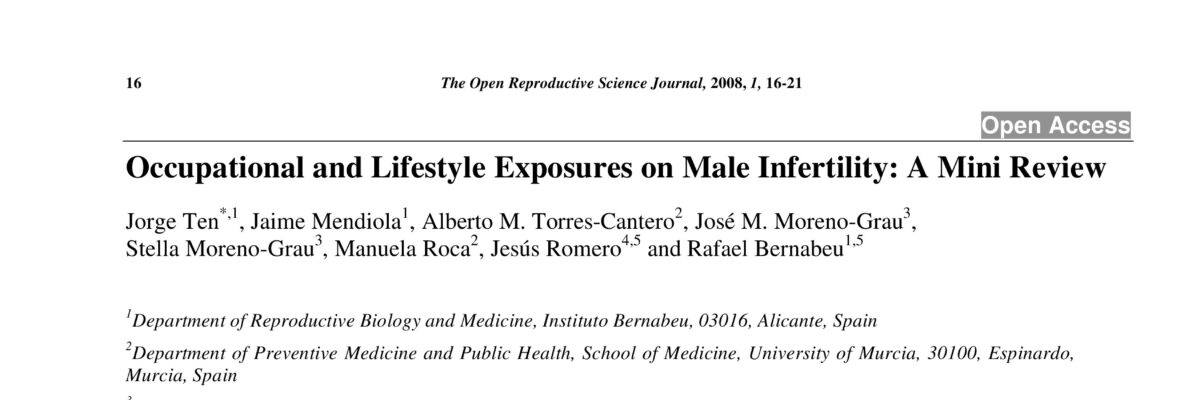 Occupational and Lifestyle Exposures on Male Infertility: A Mini Review