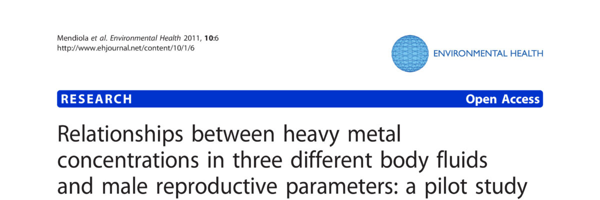 Relationships between heavy metal concentrations in three different bodily fluids and male reproductive parameters: a pilot study