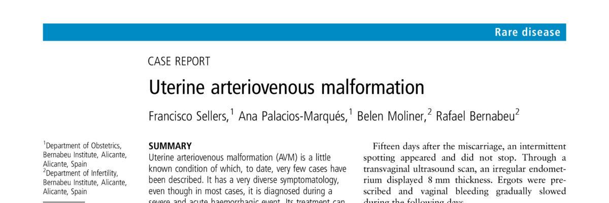 Uterine arteriovenous malformation