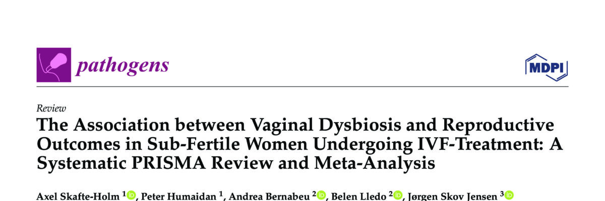 The Association between Vaginal Dysbiosis and Reproductive Outcomes in Sub-Fertile Women Undergoing IVF-Treatment: A Systematic PRISMA Review and Meta-Analysis